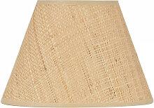 Abat-jour raphia conique - diamètre 14 à 40cm