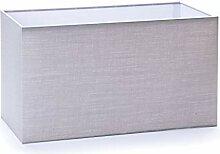 Abat-jour rectangulaire en tissu, E27, gris,