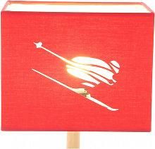 Abat-jour rectangulaire skieur en micro-découpe