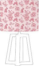 Abat-jour rose imprimé rose d 100 cm