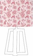 Abat-jour rose imprimé rose d 45 cm