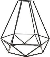Abat-jour suspendu en forme de diamant, en métal,