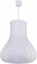 Abat-jour suspendu hauteur 40 cm blanc rond,