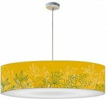 Abat-jour suspension bouquet jaune moutarde ø