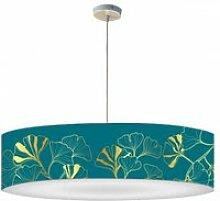 Abat-jour suspension iris bleu canard ø 60cmxh 30