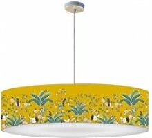 Abat-jour suspension jungle jaune moutarde ø