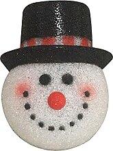 Abat-jour tête de bonhomme de neige porte de