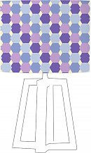 Abat-jour violet imprimé bleu d 100 cm