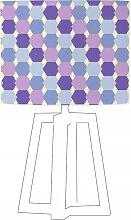 Abat-jour violet imprimé bleu d 45 cm