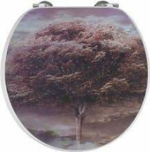 Abattant - lunette wc 4 saisons 3d en bois