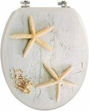 Abattant wc bois décor étoile de mer FRAN190151