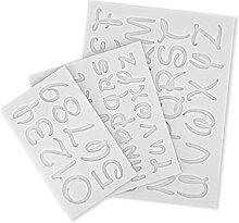 Abcidubxc Moules en silicone - Alphabet numérique