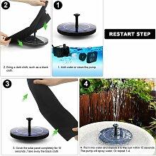 Abcrital - Pompe de fontaine solaire 3.0W pour