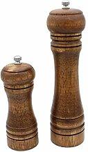 Abcsea 2 Pieces Moulin à Poivre et sel Noyer