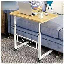 ABD Table de lit portable avec roulettes - Chaise