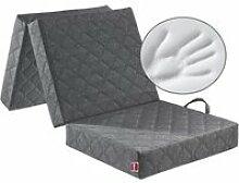 ABEIL Chauffeuse-matelas d'appoint de gris
