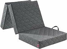 ABEIL Chauffeuse/matelas d'appoint de Luxe gris