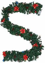 ABOOFAN Guirlande de Noël en PVC pour cheminée