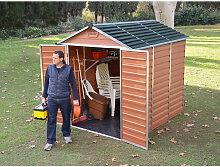 Abri de jardin SKYLIGHT 6X8 couleur ambre - 4.2m²