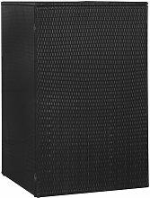 Abri de poubelle simple Noir 76x78x120 cm Résine