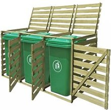 Abri pour poubelle Cache-poubelle Jardin triple