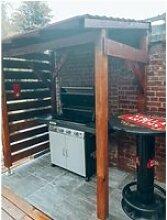 Abris pour Barbecue et Plancha - 2m - Couvert -
