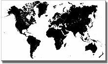 Abstrait Noir et Blanc Carte du Monde Moderne