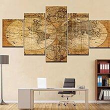 Abstrait Vintage Globe carte du monde HD