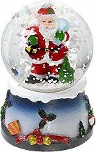 AC-Déco Boule à Neige Lumineuse avec Paillettes