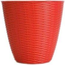 AC-Déco Cache-Pot - Paglia - D 29 Cm - Rouge