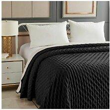 Ac-déco - Dessus de lit réversible uni - 240 x