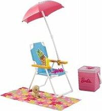 Accessoires chaise pour la plage : barbie