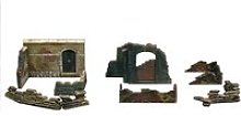 Accessoires de décor de guerre 1/72 : murs et