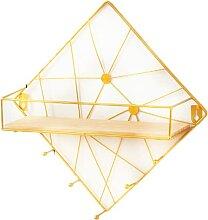 Accroche clé Mural Etagere hexagonale Etagere