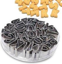 Acier inoxydable Alphabet lettre emporte-pièces