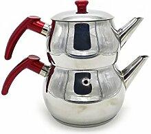 Acier inoxydable taille pot de thé turc No:2