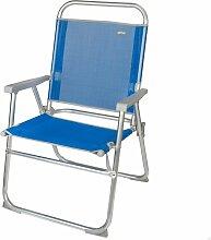 Active - Chaise de plage pliante fixe bleu