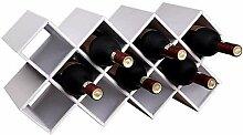 ACUIPP En Bois 11 Bouteilles de Vin de Vin Stand