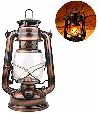 Adaskala Lampe à pétrole en Fer Vintage Lampe à