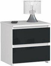 ADGO CL2 Commode moderne avec 2 tiroirs L 40 x l