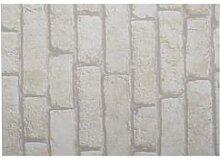 Adhésif décoratif brique blanche 45cmx2m
