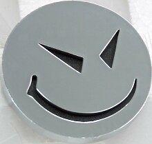 Adhesif Sticker 3D Chrome - Smiley