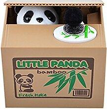 Adorable tirelire panda vole des pièces de