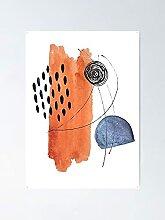 Affiche abstrait scandinave