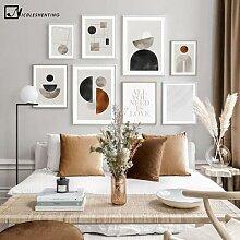 Affiche d'art avec formes graphiques,