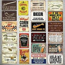 Affiche de dîner Vintage en métal, Plaque en fer