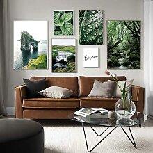 Affiche de paysage de forêt Nature, toile de
