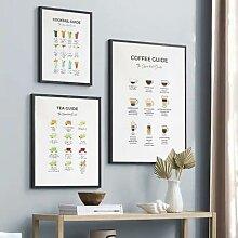 Affiche de toile imprimée pour amoureux du café,