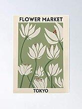 Affiche du marché des fleurs