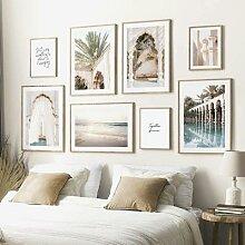 Affiche nordique de jardin de feuille de palmier